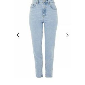 Topshop Mom jeans light wash size 34x30